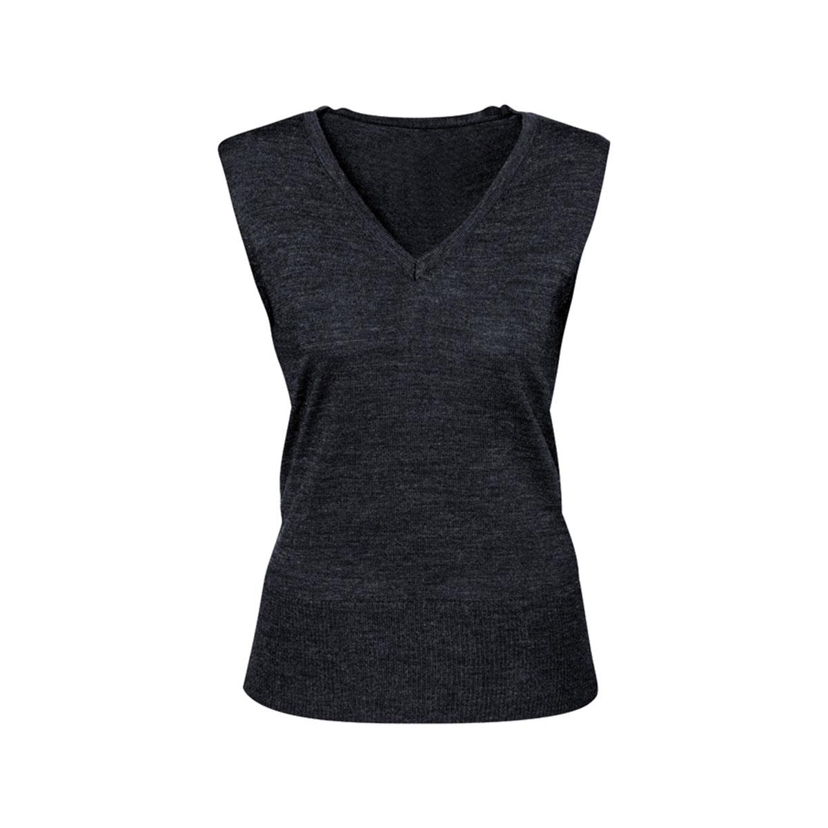 Ladies Milano Vest-Charcoal