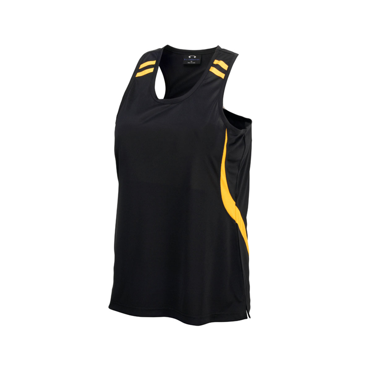 Kids Flash Singlet-Black / Gold
