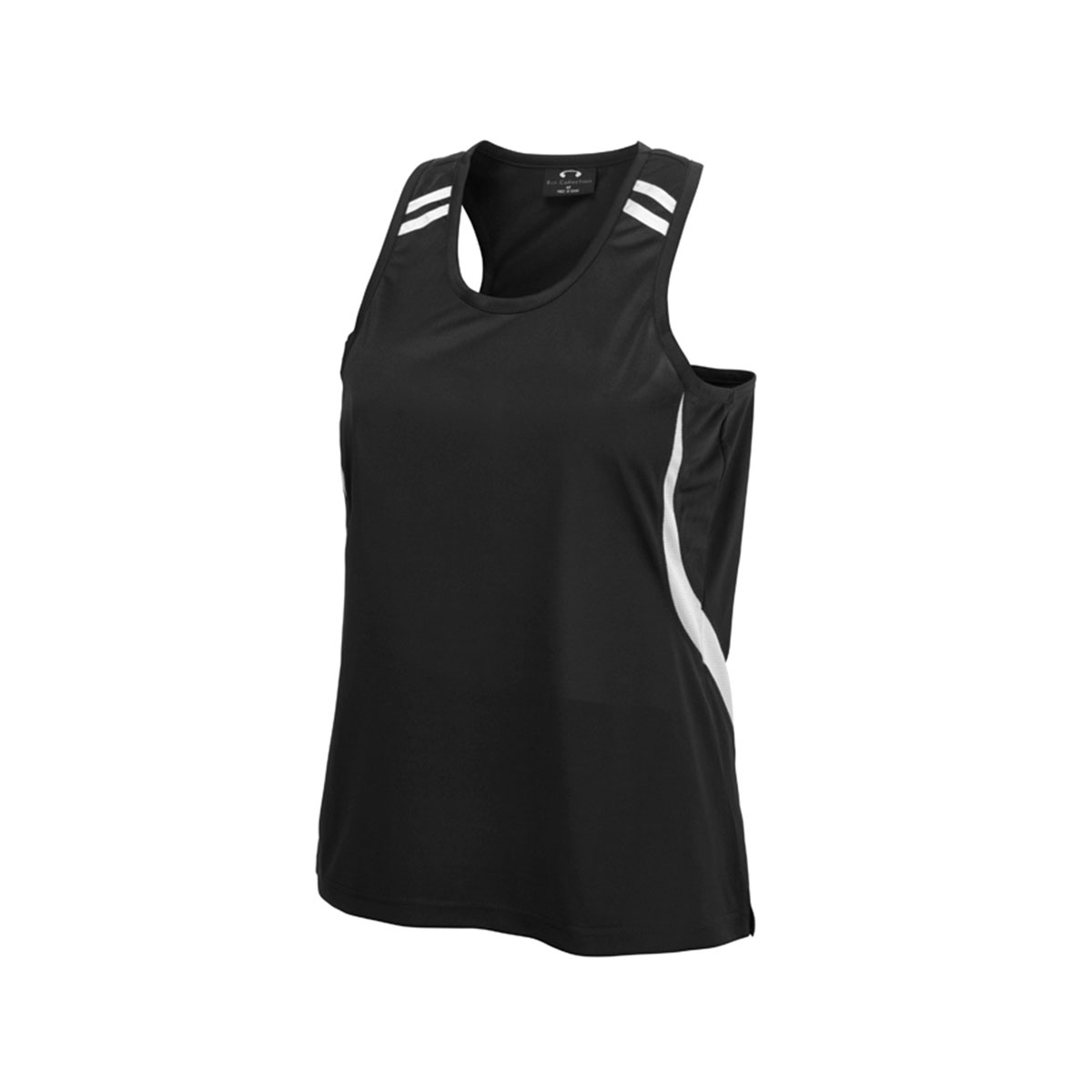 Kids Flash Singlet-Black / White