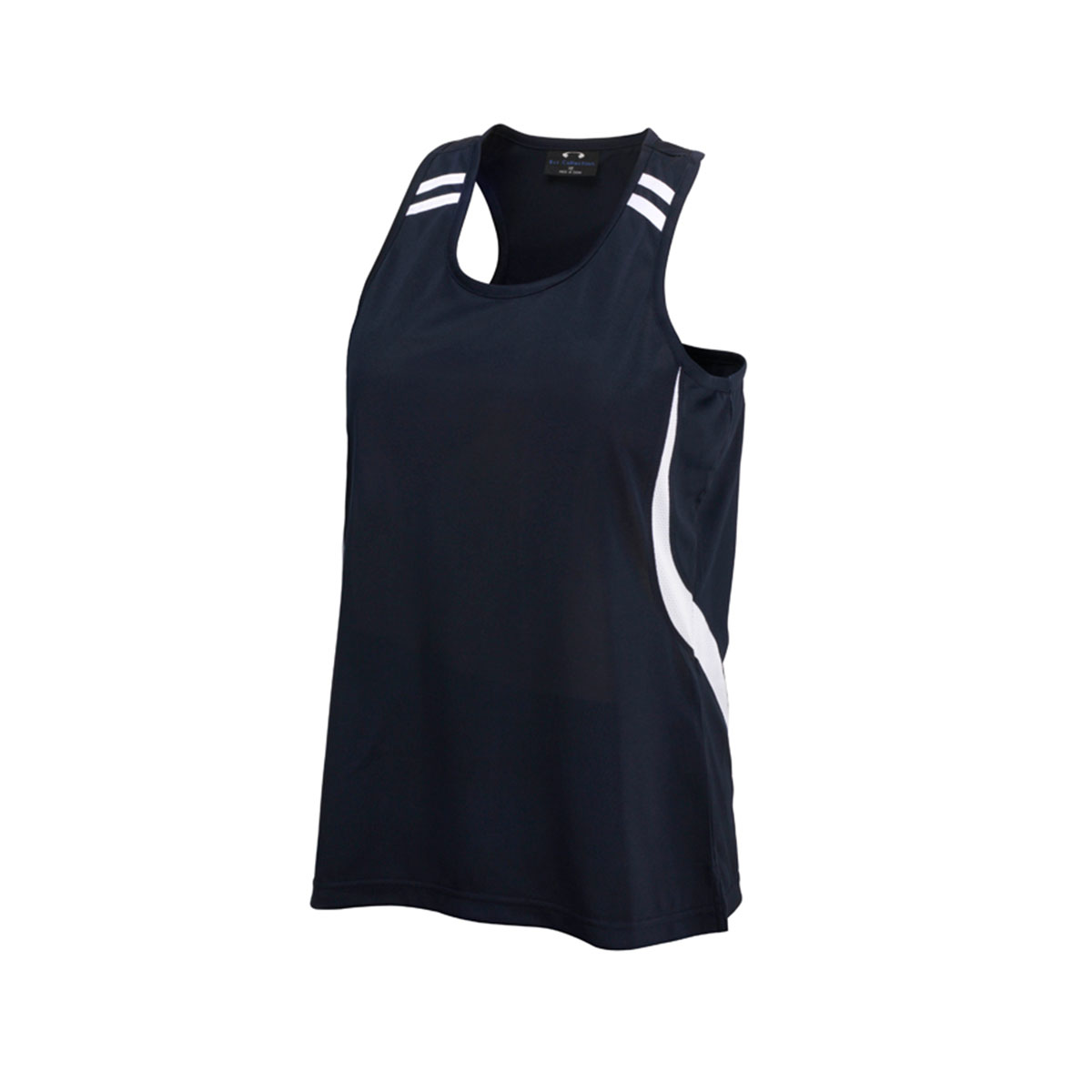 Kids Flash Singlet-Navy / White