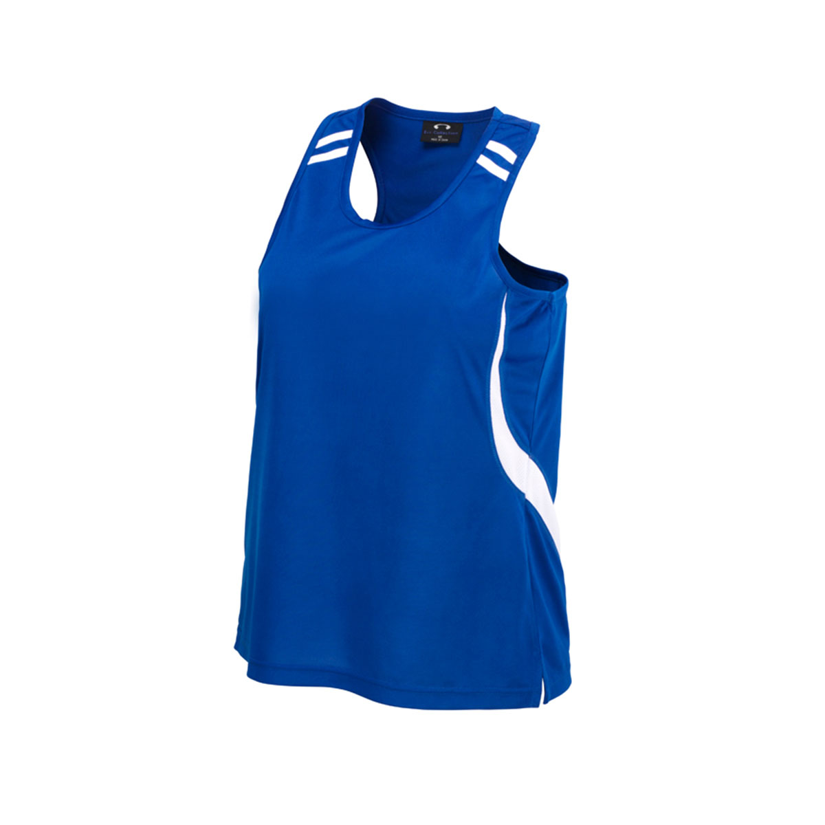 Kids Flash Singlet-Royal / White