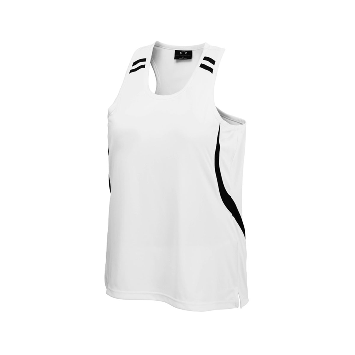 Mens Flash Singlet-White / Black