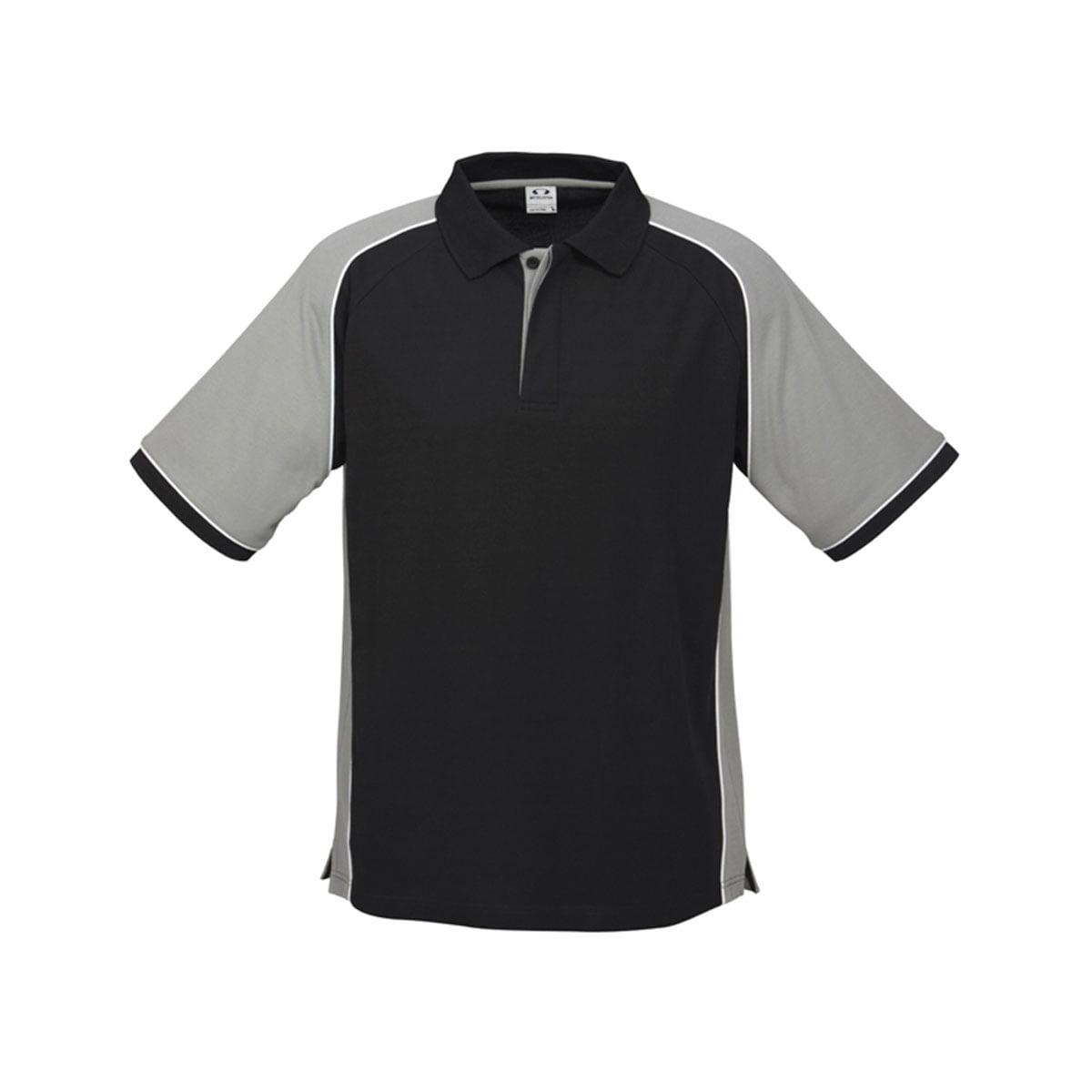 Mens Nitro Polo-Black / Grey / White