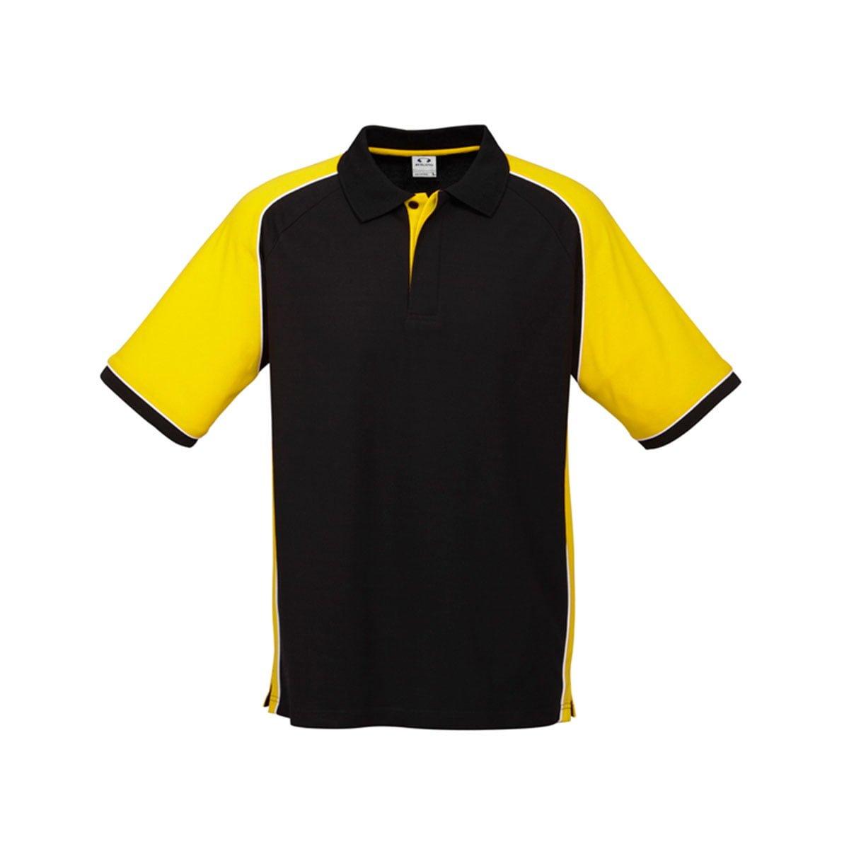 Mens Nitro Polo-Black / Yellow / White