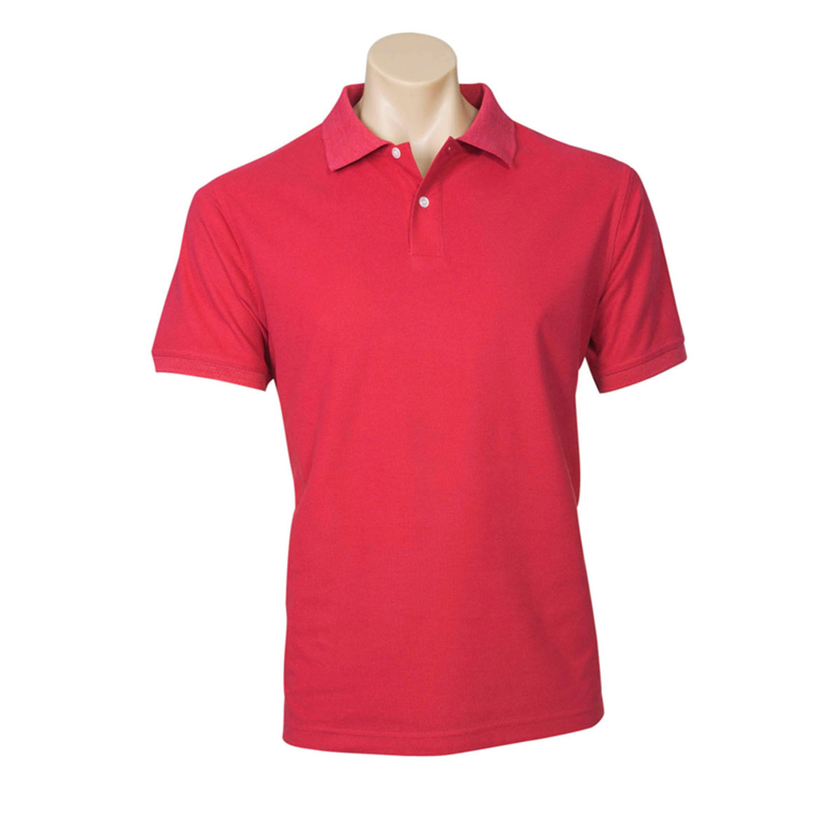 Mens Neon Polo-Red