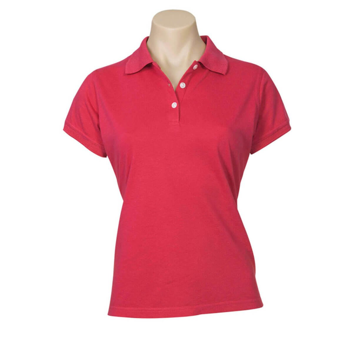 Ladies Neon Polo-Red