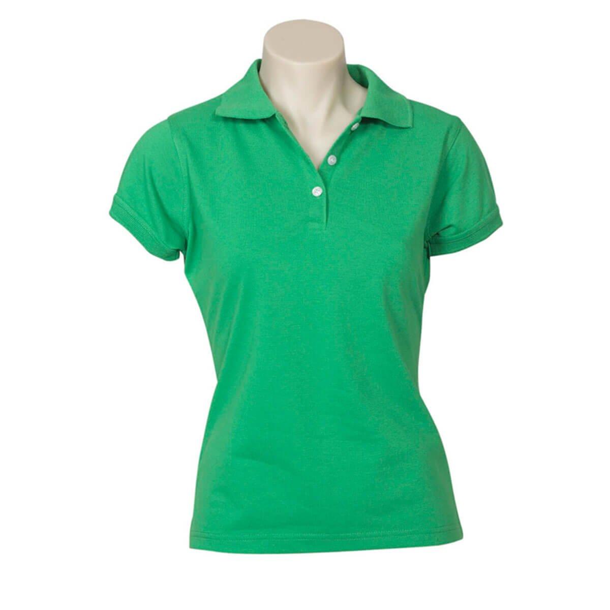 Ladies Neon Polo-Green