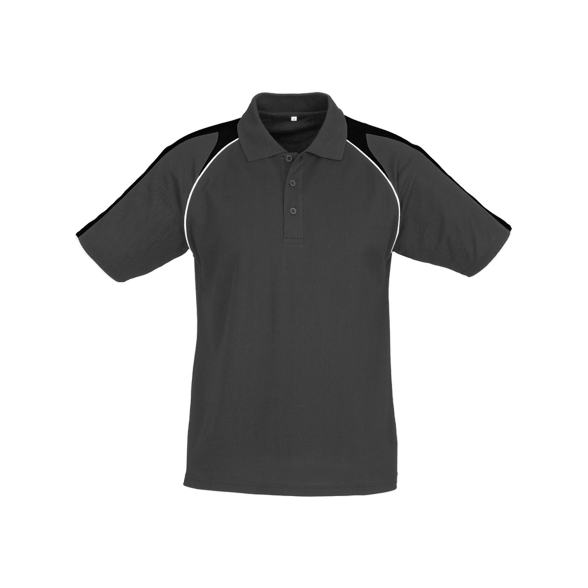 Mens Triton Polo-Ash / Black / White