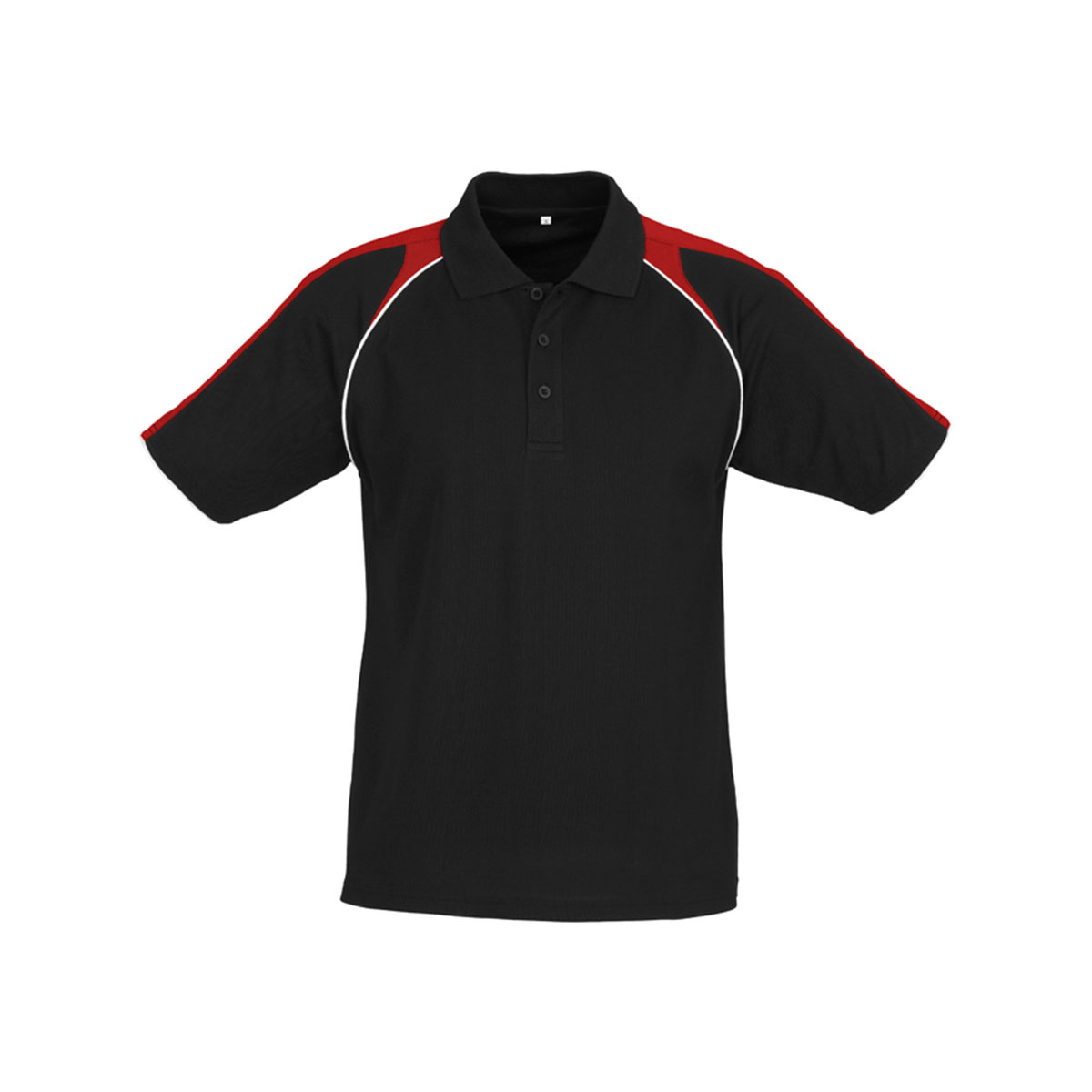 Mens Triton Polo-Black / Red / White