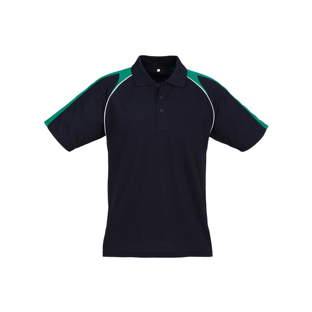 Mens Triton Polo-Navy / Kelly Green / White