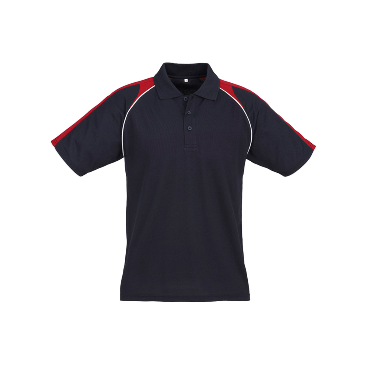 Mens Triton Polo-Navy / Red / White
