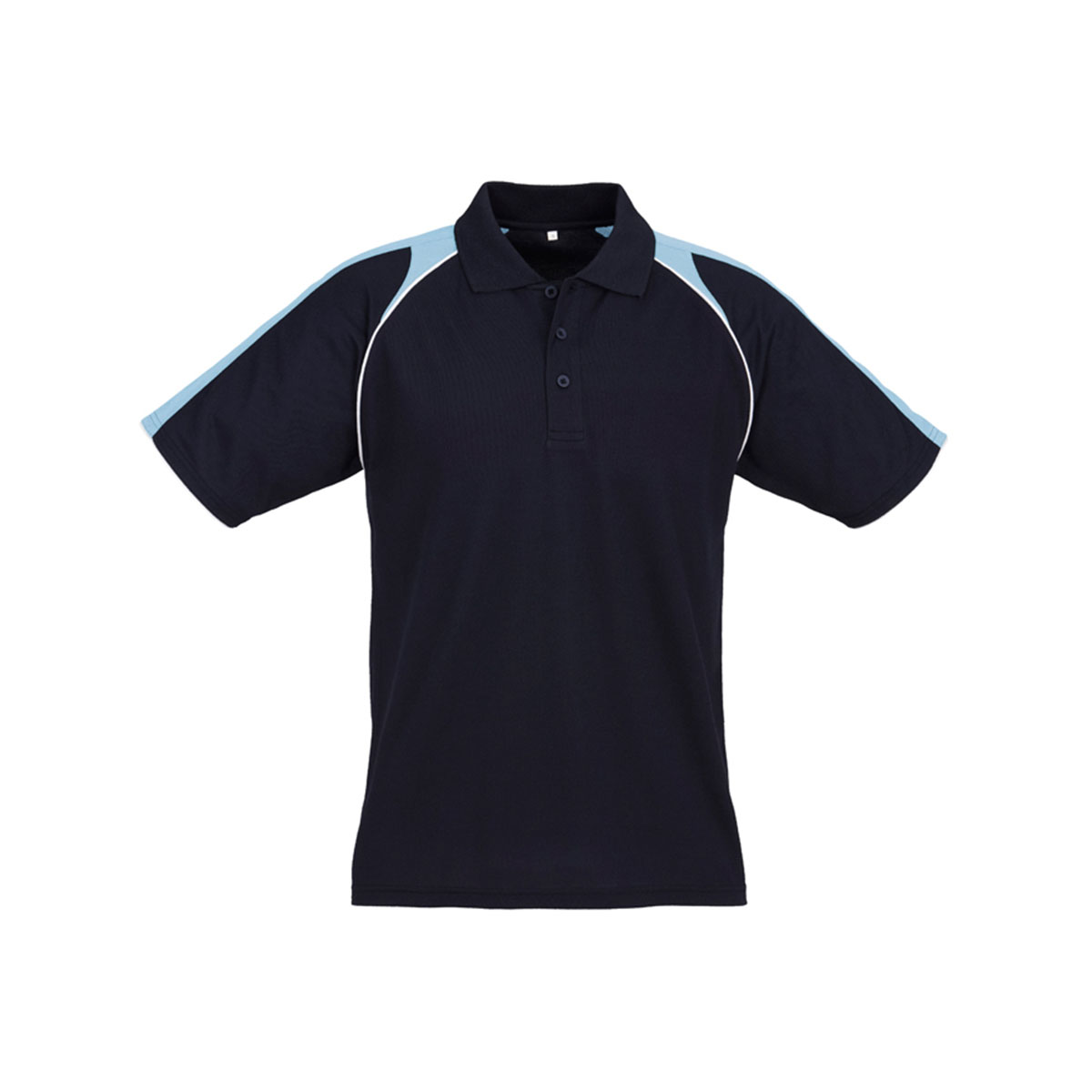 Mens Triton Polo-Navy / Spring Blue / White