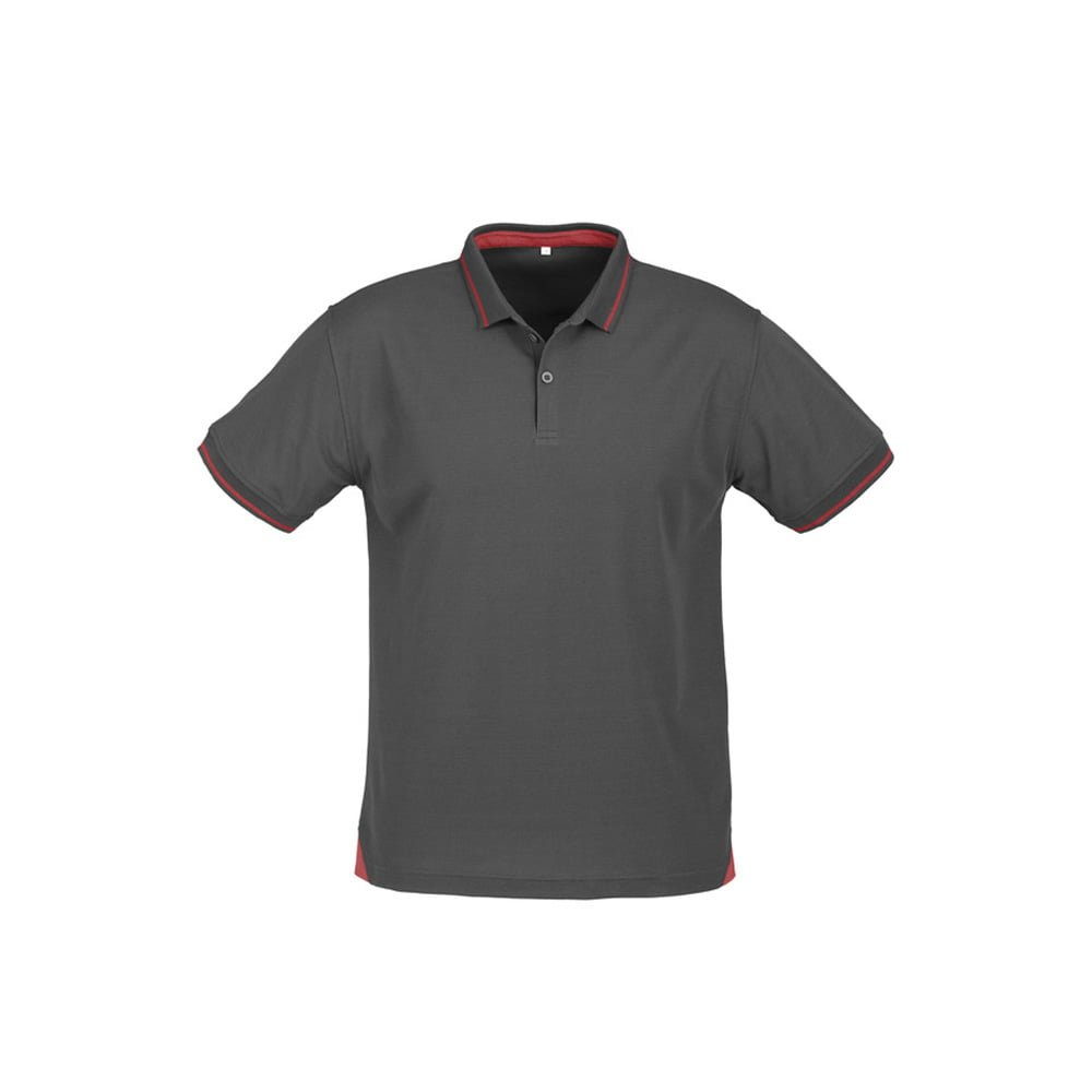Mens Jet Polo-Steel Grey / Red