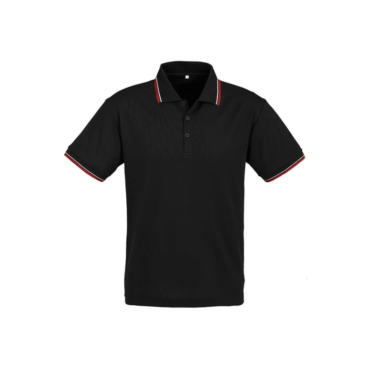 Mens Cambridge Polo-Black / Red / White