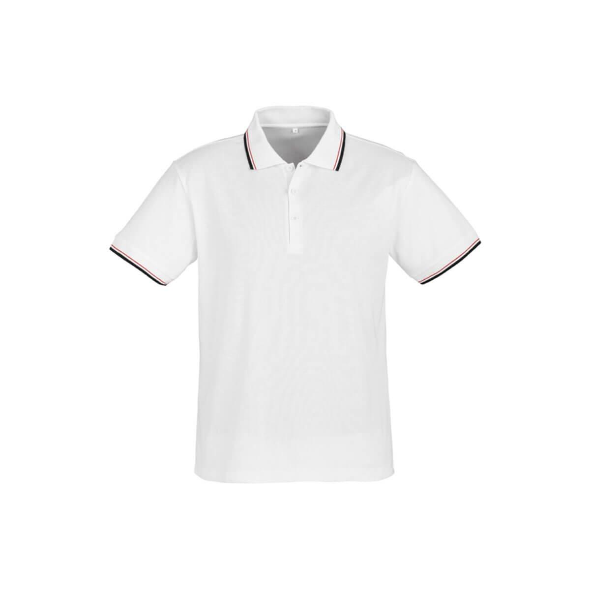 Mens Cambridge Polo-White / Black / Red