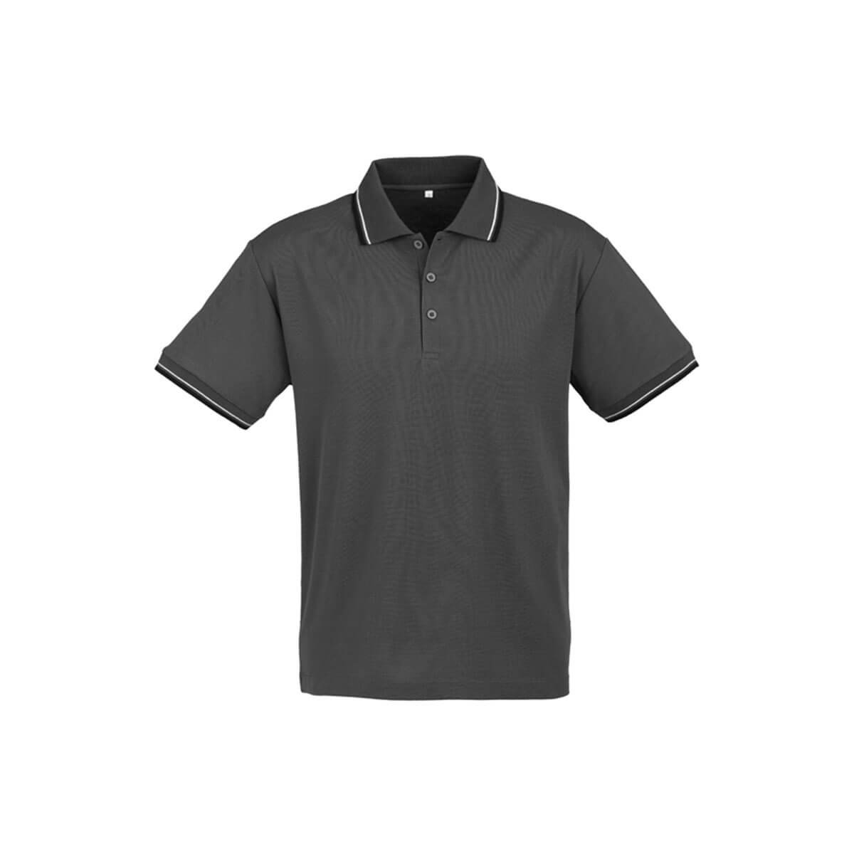 Mens Cambridge Polo-Steel Grey / Black / White