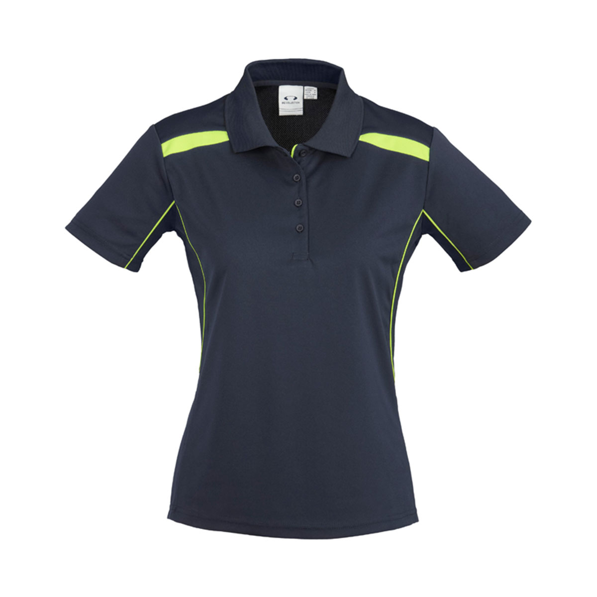 Ladies United Short Sleeve Polo-Navy / Lime