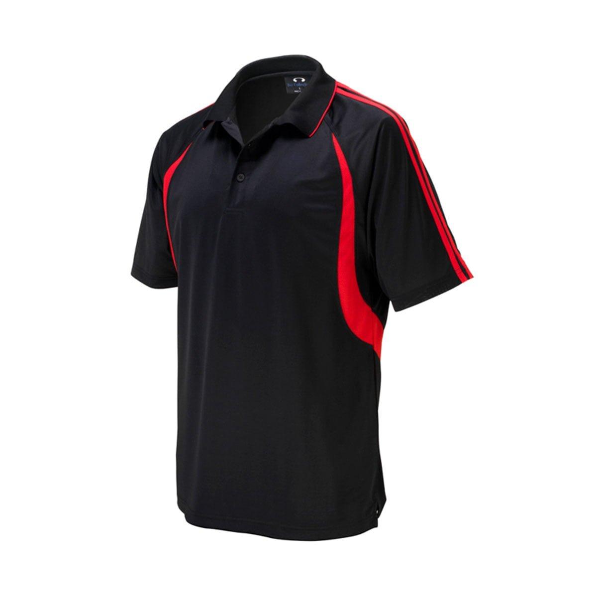 Mens Flash Polo-Black / Red