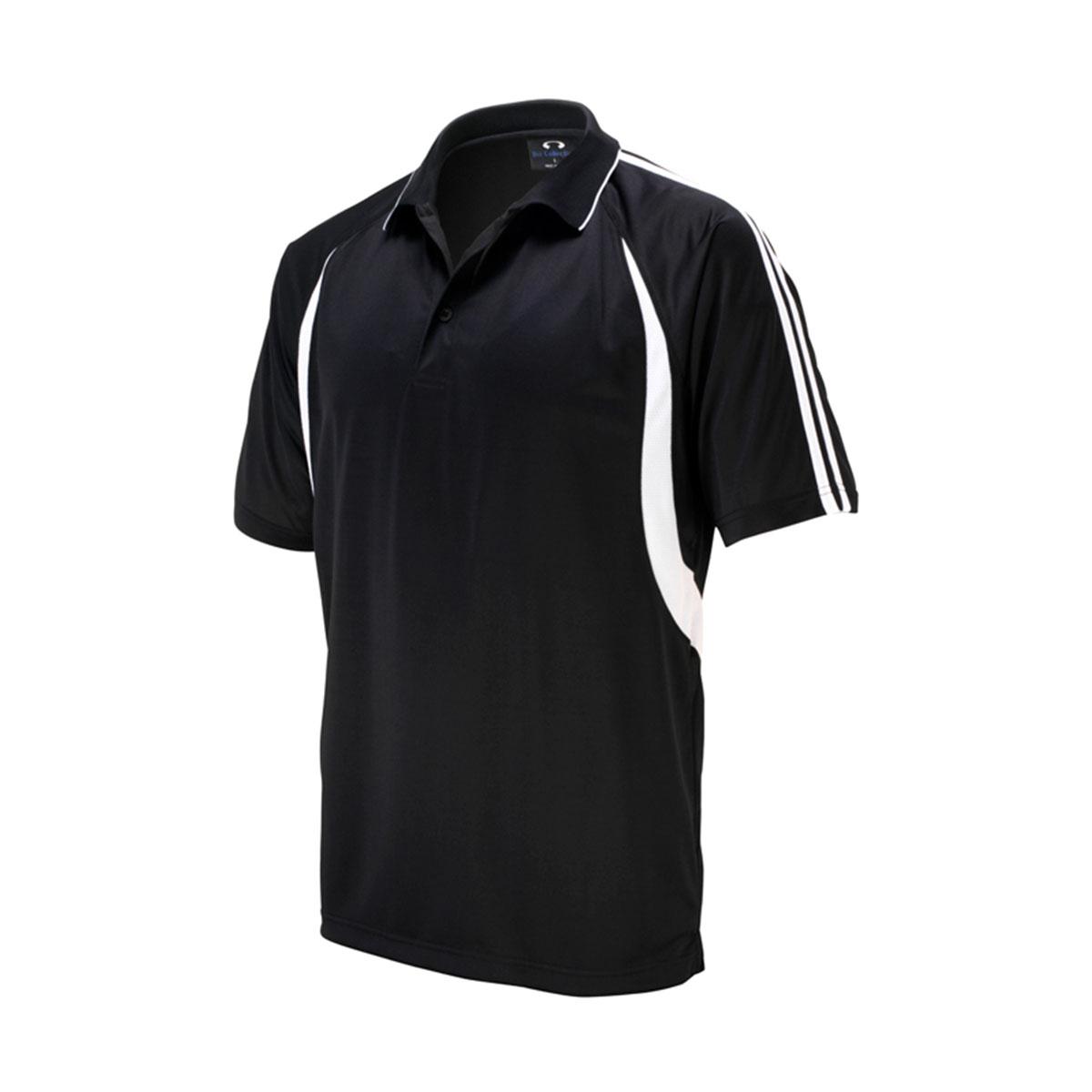 Mens Flash Polo-Black / White