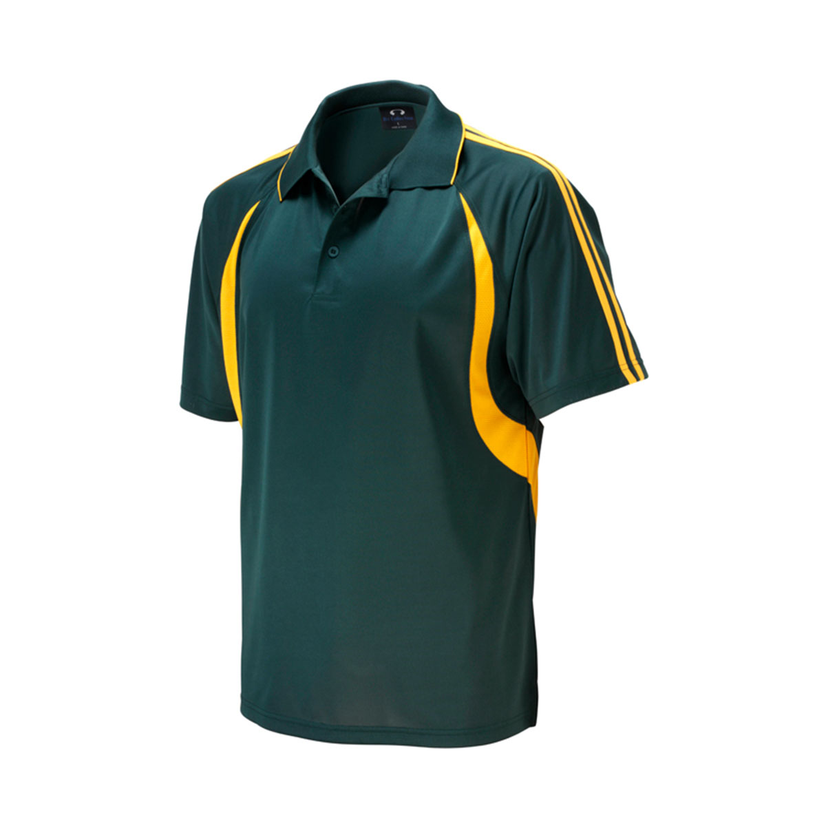 Mens Flash Polo-Forest / Gold