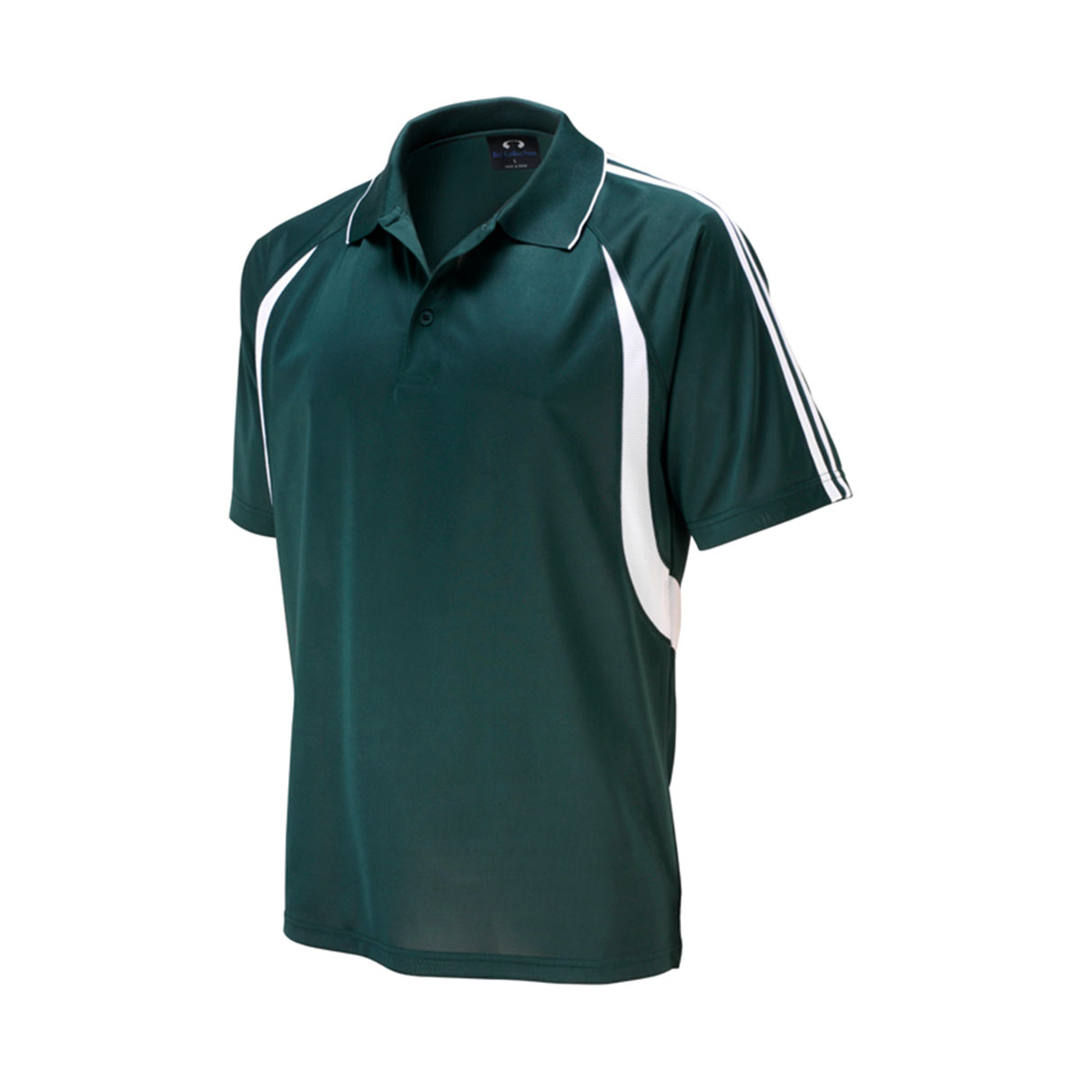 Mens Flash Polo-Forest / White
