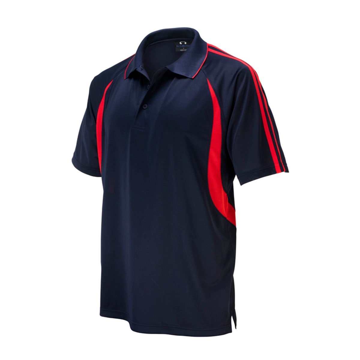 Mens Flash Polo-Navy / Red