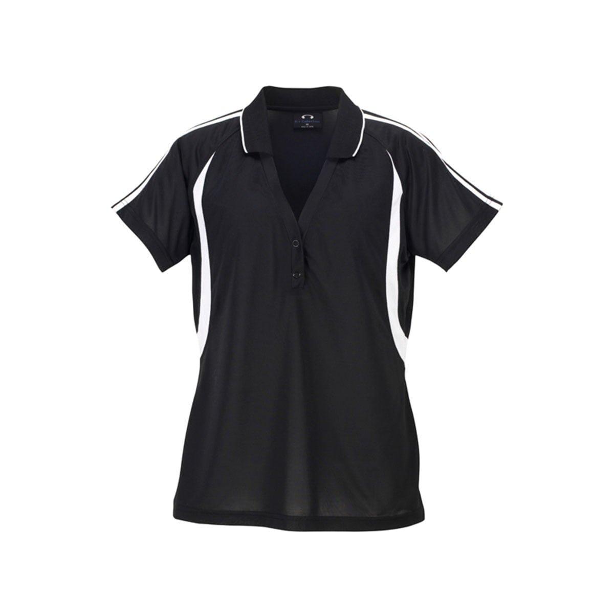 Ladies Flash Polo-Black / White