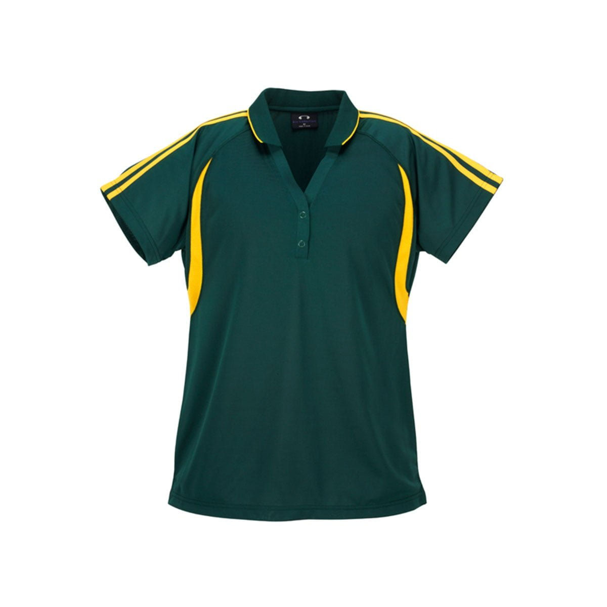 Ladies Flash Polo-Forest / Gold