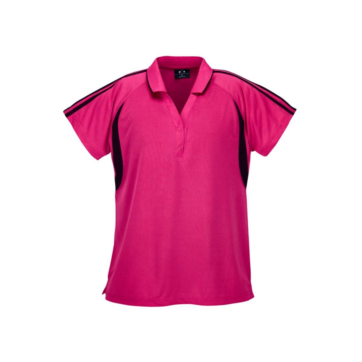 Ladies Flash Polo-Hot Pink / Black