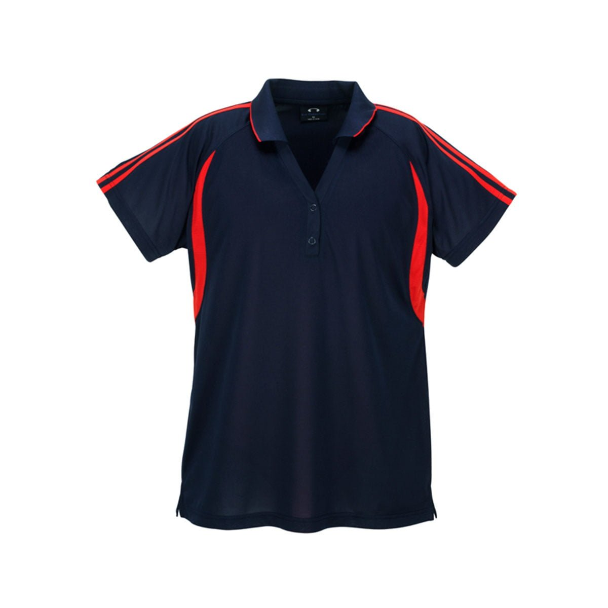 Ladies Flash Polo-Navy / Red
