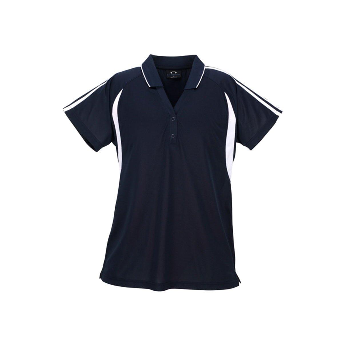 Ladies Flash Polo-Navy / White