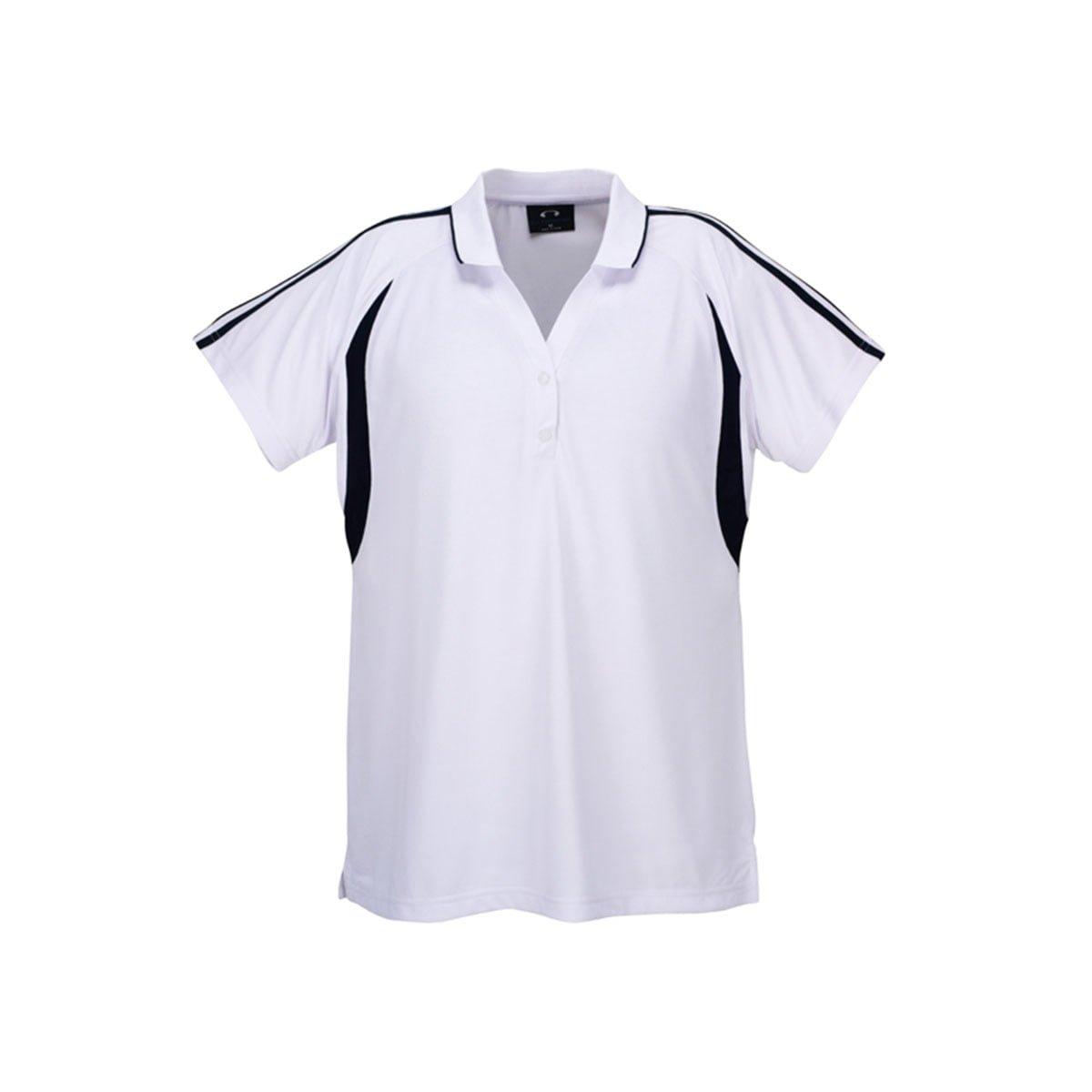 Ladies Flash Polo-White / Black