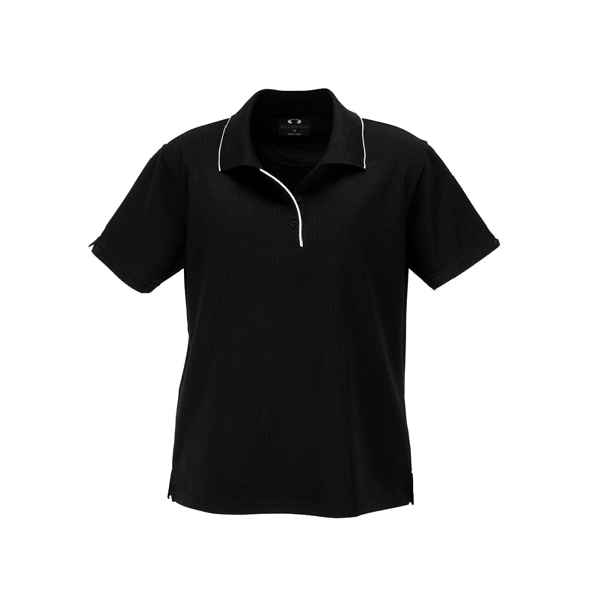 Ladies Elite Polo-Black / White