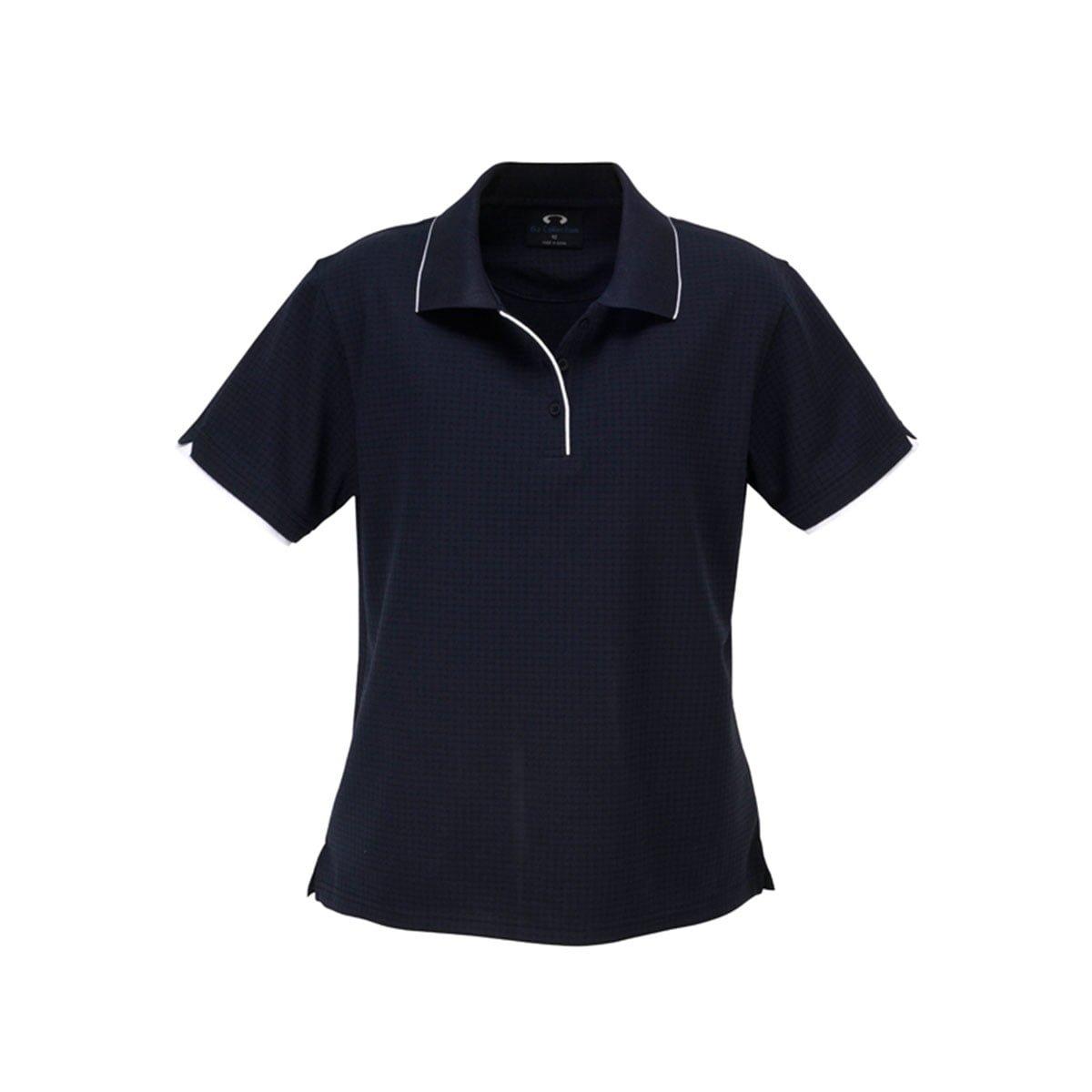 Ladies Elite Polo-Navy / White