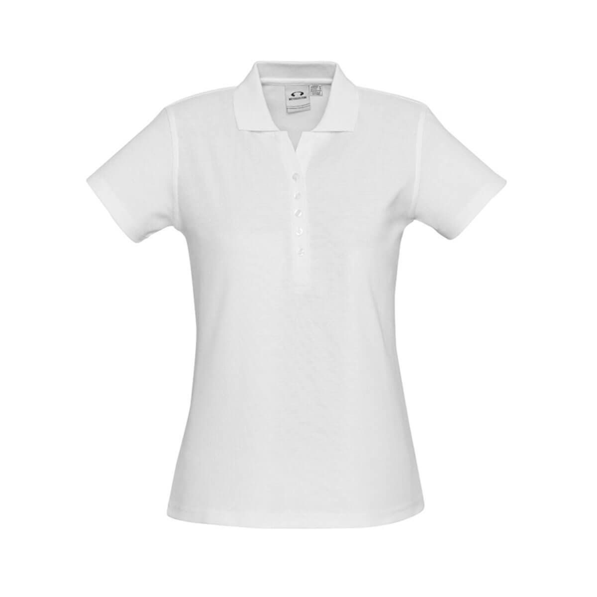 Ladies Crew Polo-White