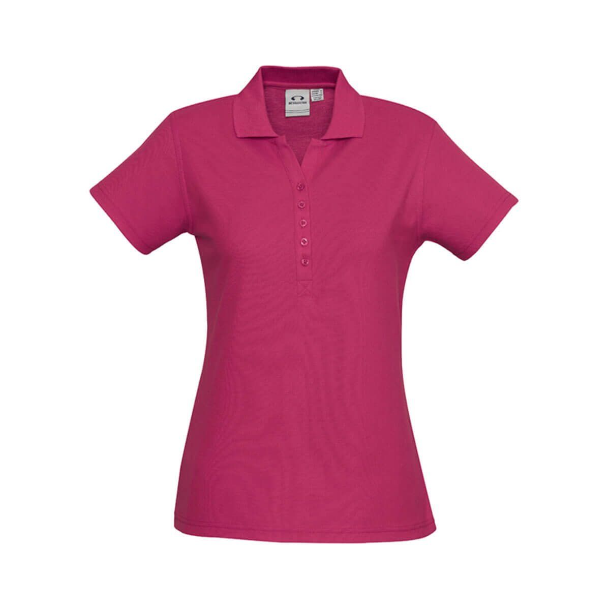 Ladies Crew Polo-Fuchsia