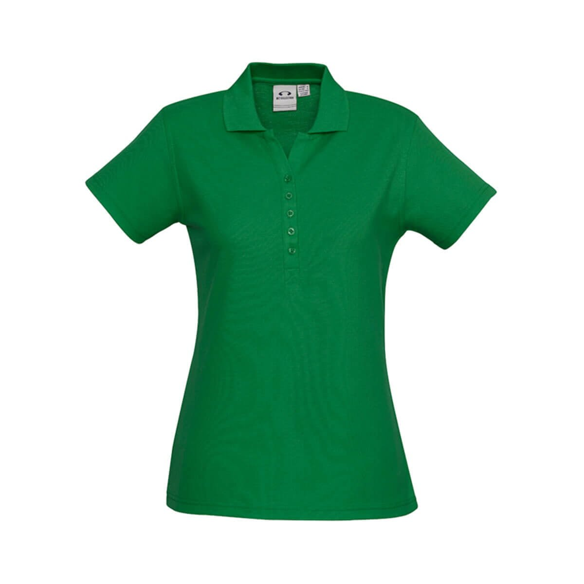 Ladies Crew Polo-Kelly Green
