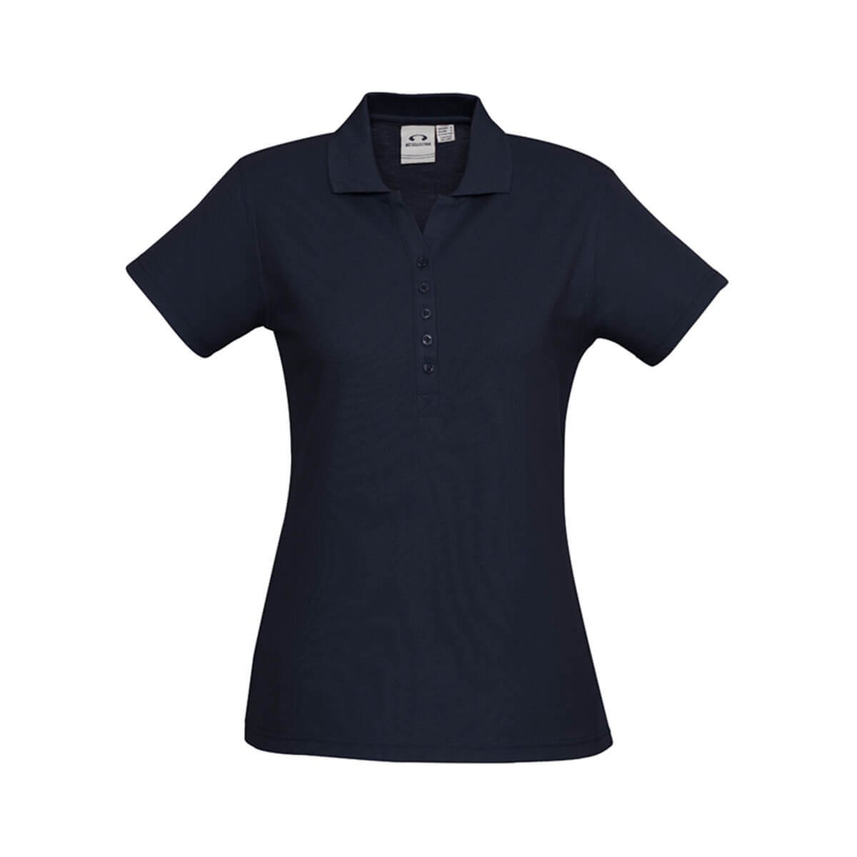 Ladies Crew Polo-Navy