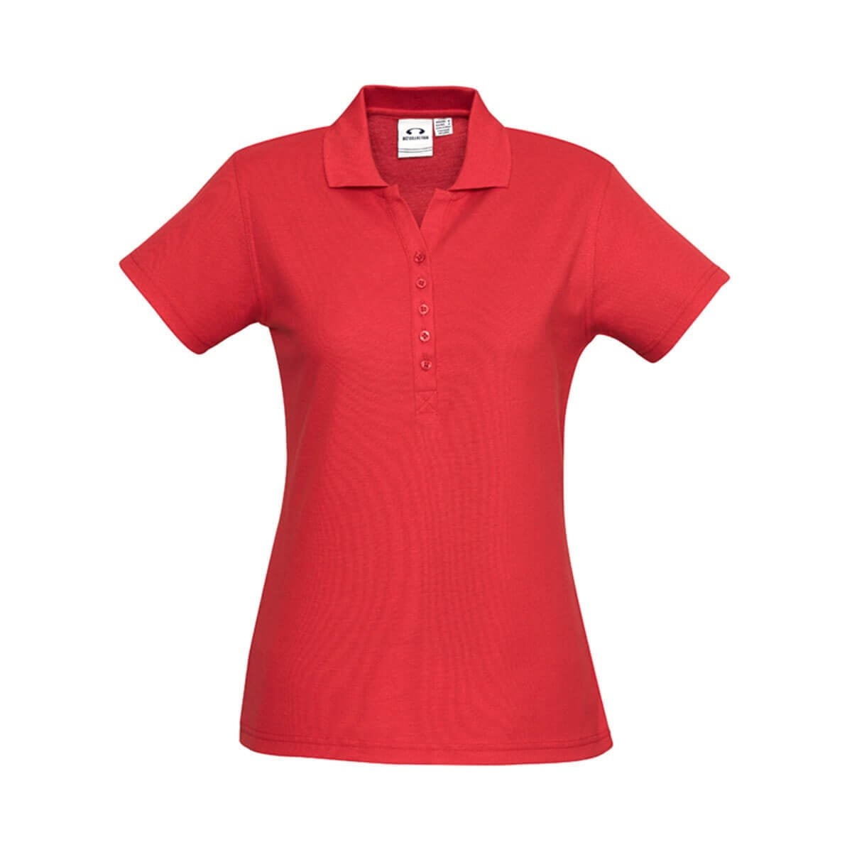 Ladies Crew Polo-Red