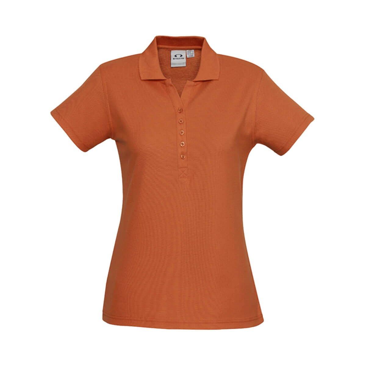 Ladies Crew Polo-Orange