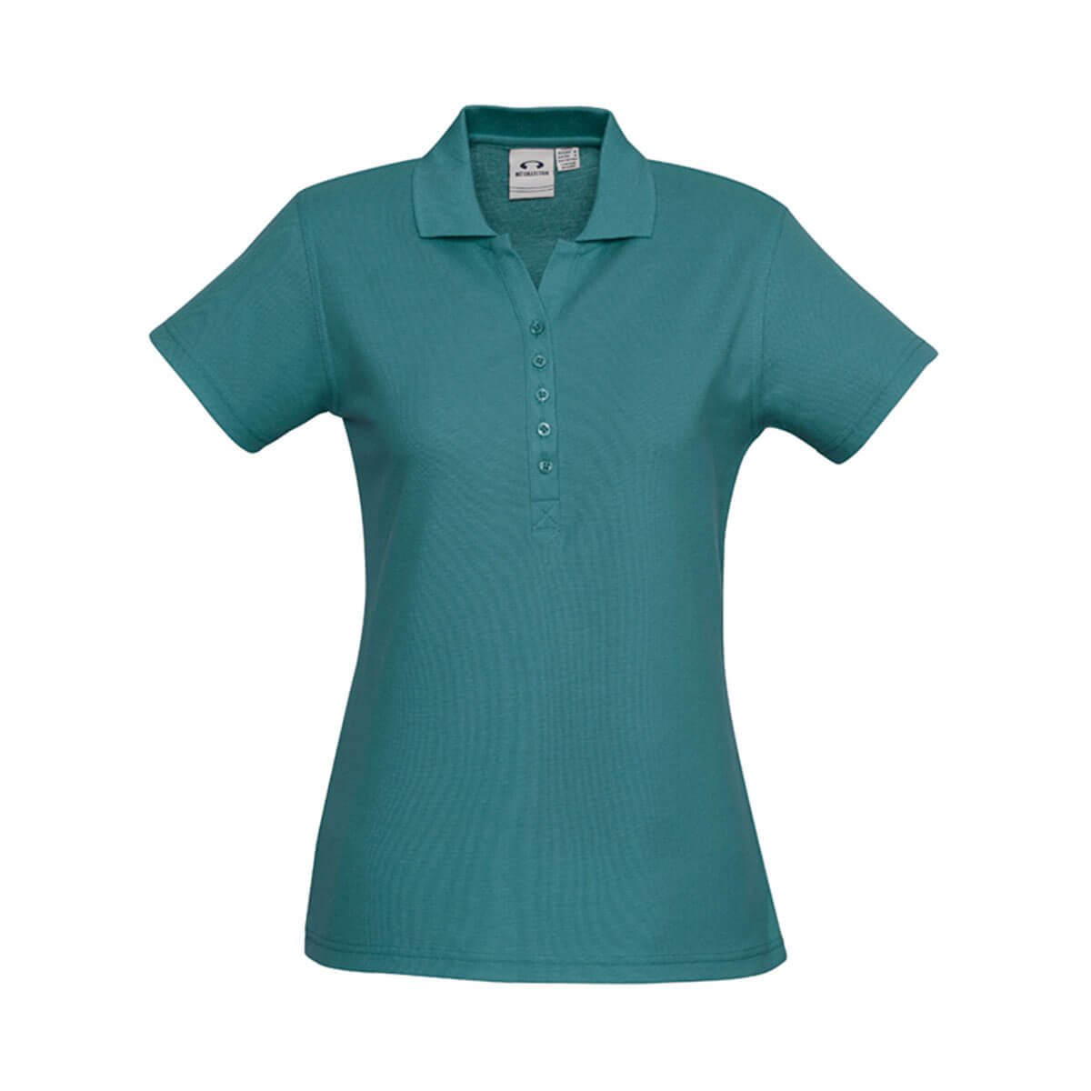 Ladies Crew Polo-Teal