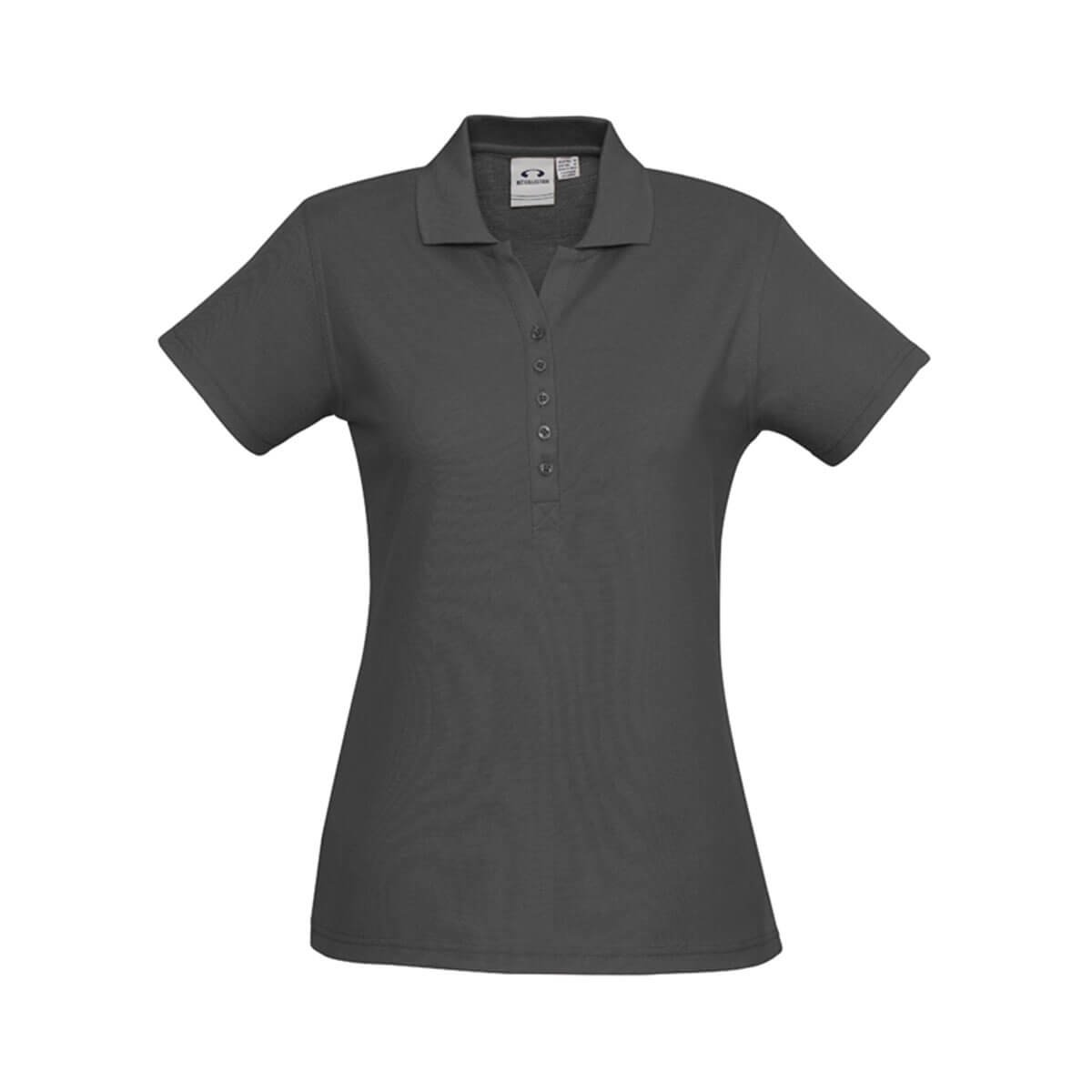 Ladies Crew Polo-Charcoal