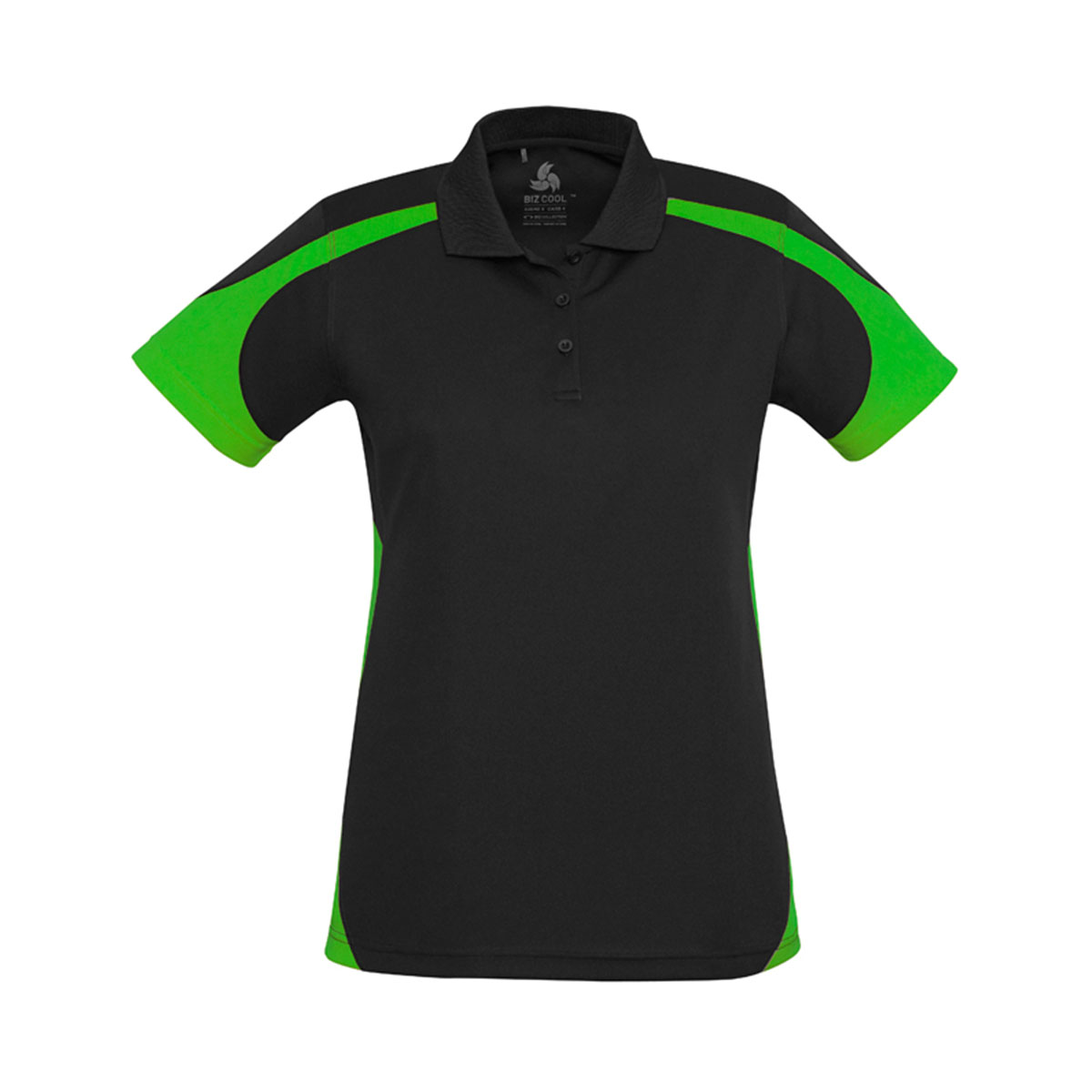 Ladies Talon Polo-Black / Green