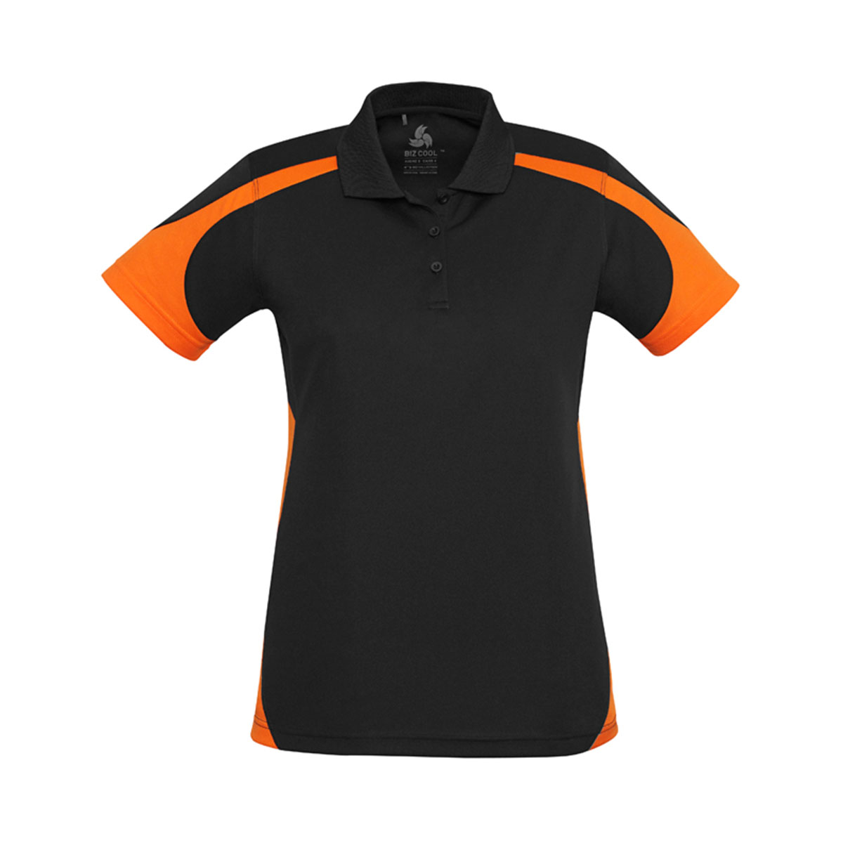 Ladies Talon Polo-Black / Orange