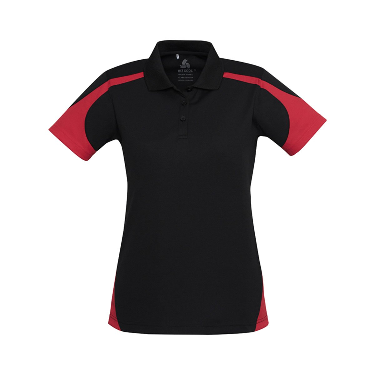Ladies Talon Polo-Black / Red