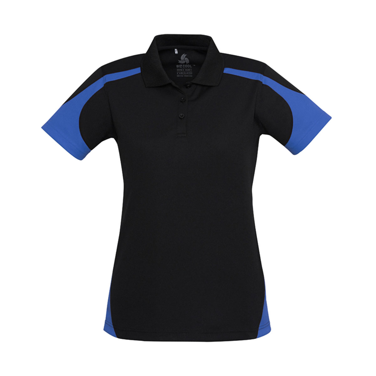 Ladies Talon Polo-Black / Royal