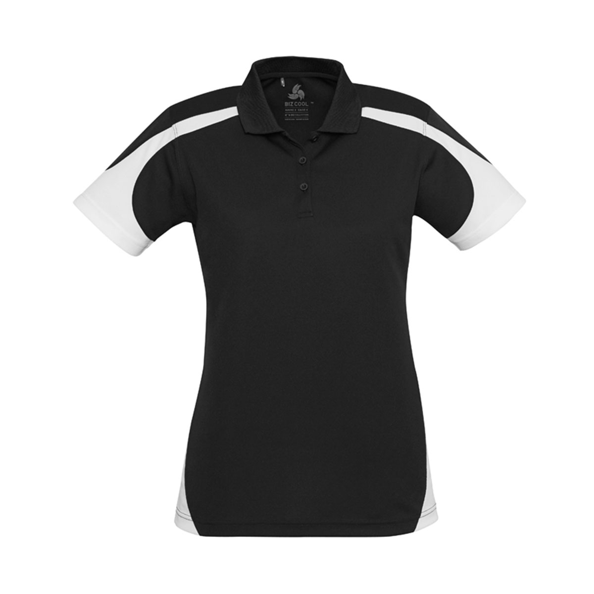 Ladies Talon Polo-Black / White