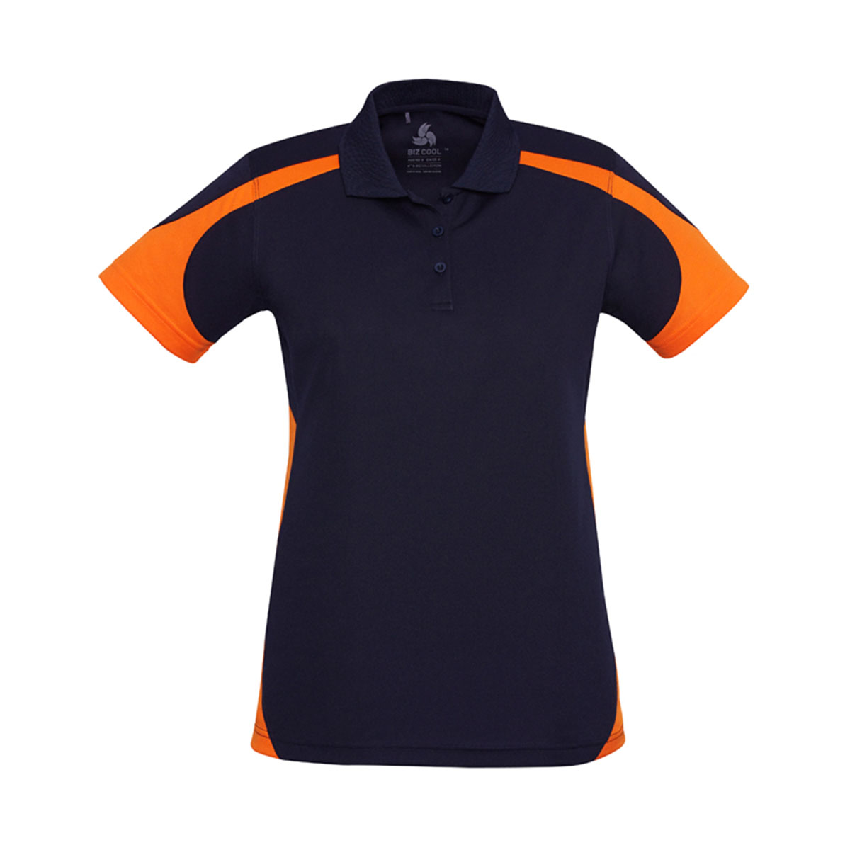 Ladies Talon Polo-Navy / Orange