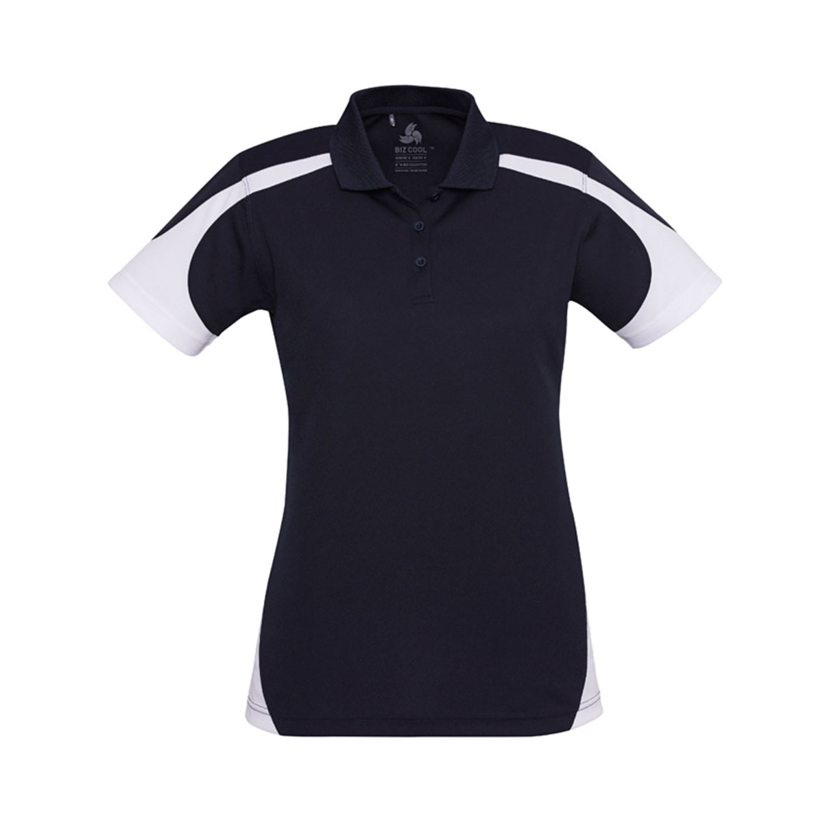 Ladies Talon Polo-Navy / White