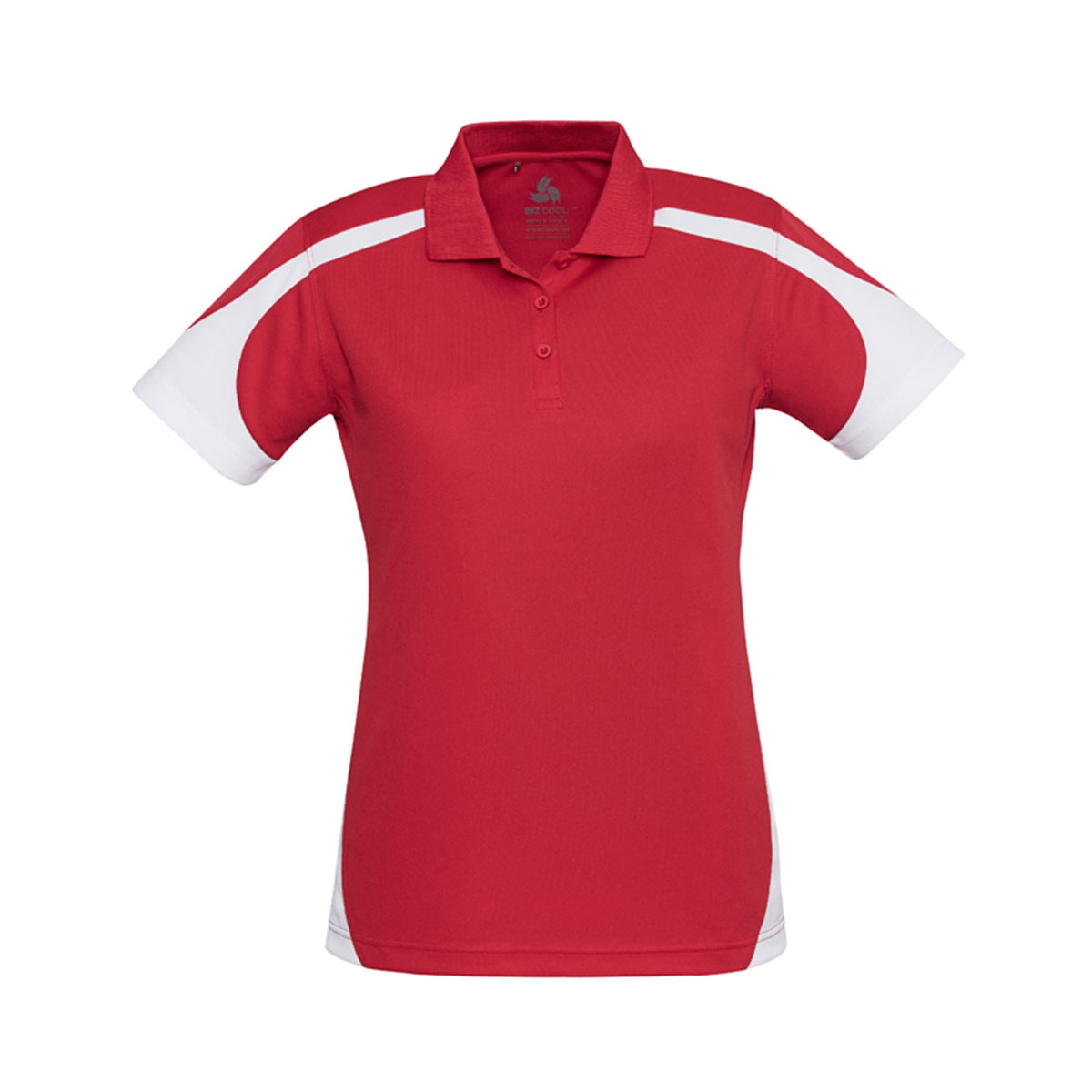 Ladies Talon Polo-Red / White